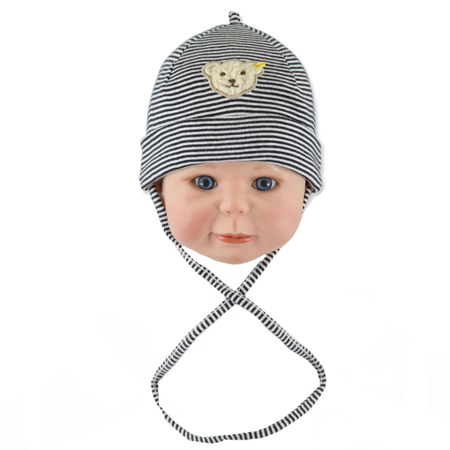 STEIFF Baby Hat Stripes navy
