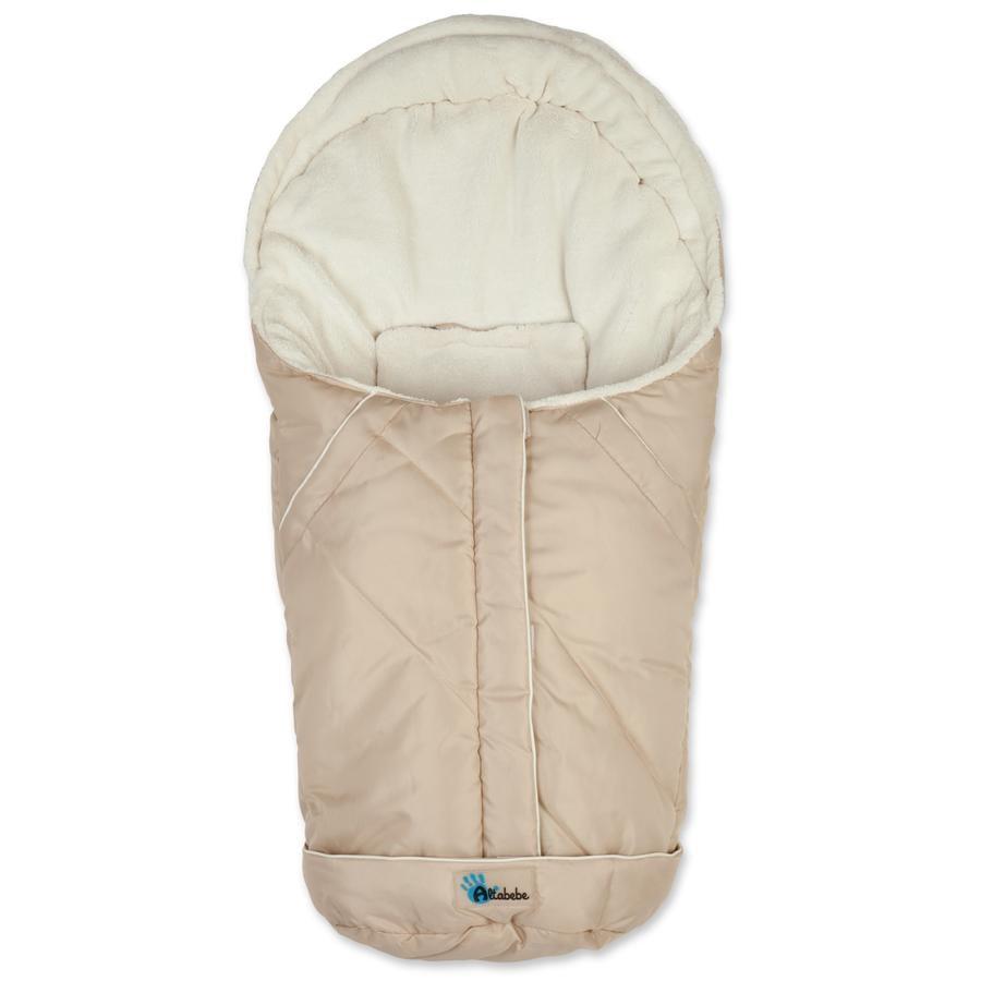 Altabebe Vinter Fotpose Nordic for babybilstol 0+ beige-hvitvask