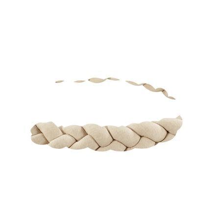 Alvi ® Nido de serpiente trenzado Colcha de tela especial nature