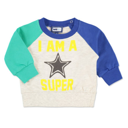 MAX COLLECTION Boys Baby Sweter SUPERSTAR kolor zielono-niebieski