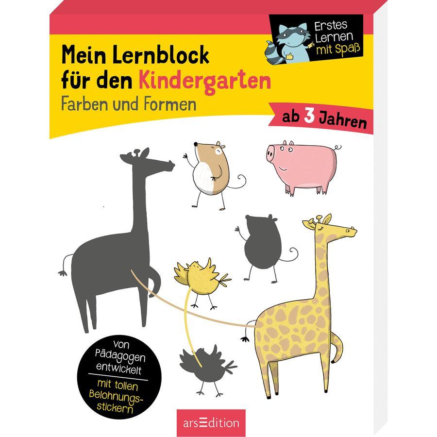 arsEdition Mein Lernblock für den Kindergarten Farben und Formen