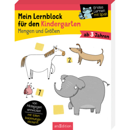 arsEdition Mein Lernblock für den Kindergarten Mengen und Größen