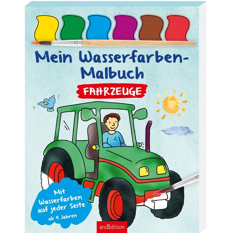 arsEdition Mein Wasserfarben Malbuch Fahrzeuge
