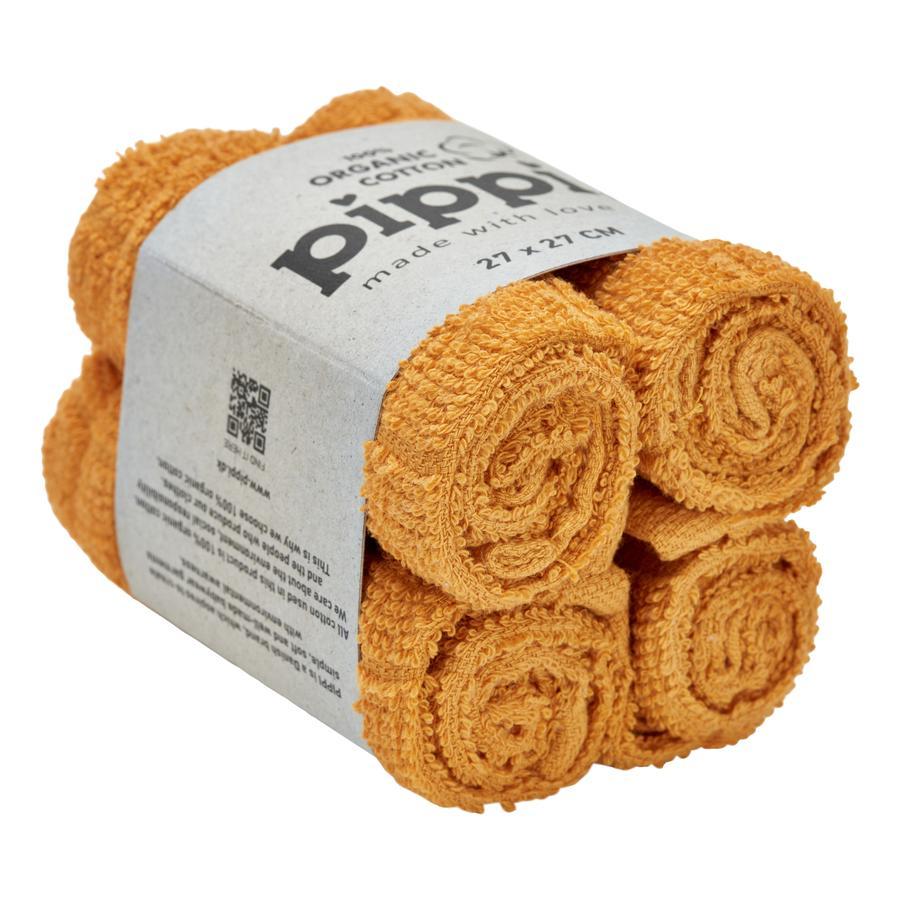Pippi Waschtücher mineral yellow 4er-Pack