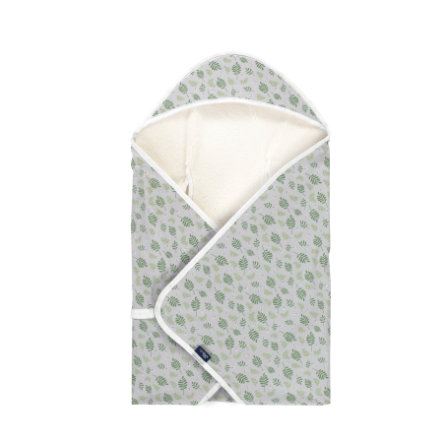 Alvi ® Travel Blanket Jersey Organic Cotton Drifting Leaves