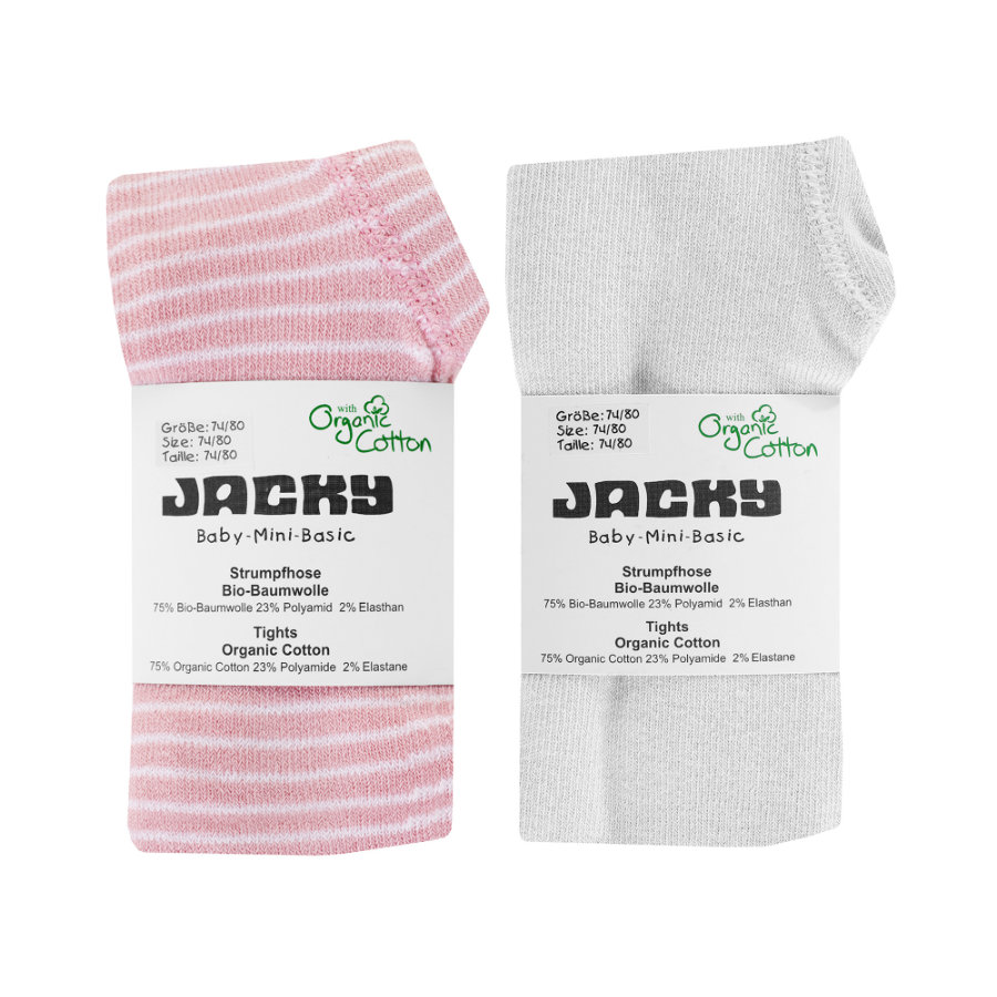 JACKY Strumpfhose 2er Pack rosa/ringel