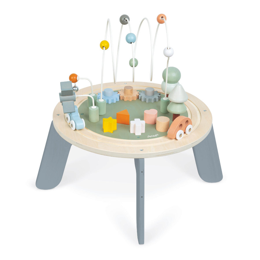 Janod ® Sweet Cocoon Activity Table med 5 funktioner