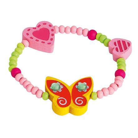 BINO Armband vlinder, geel