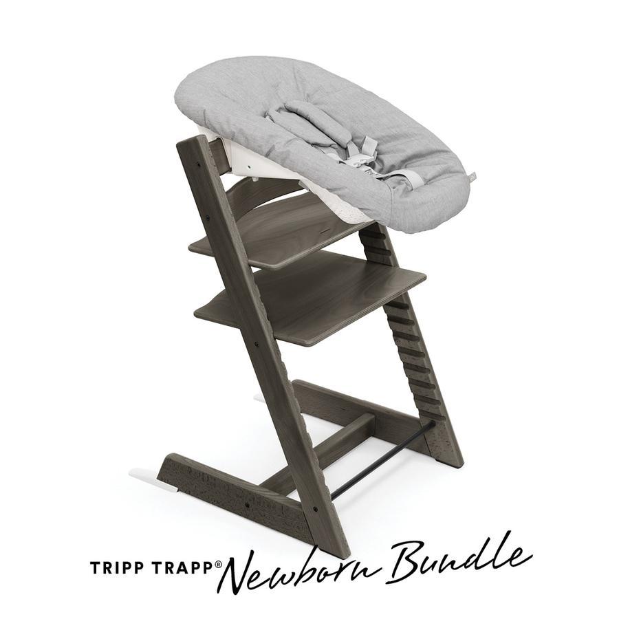 STOKKE® Tripp Trapp® Hochstuhl Buche Hazy Grey inkl. Newborn Set™ Grey