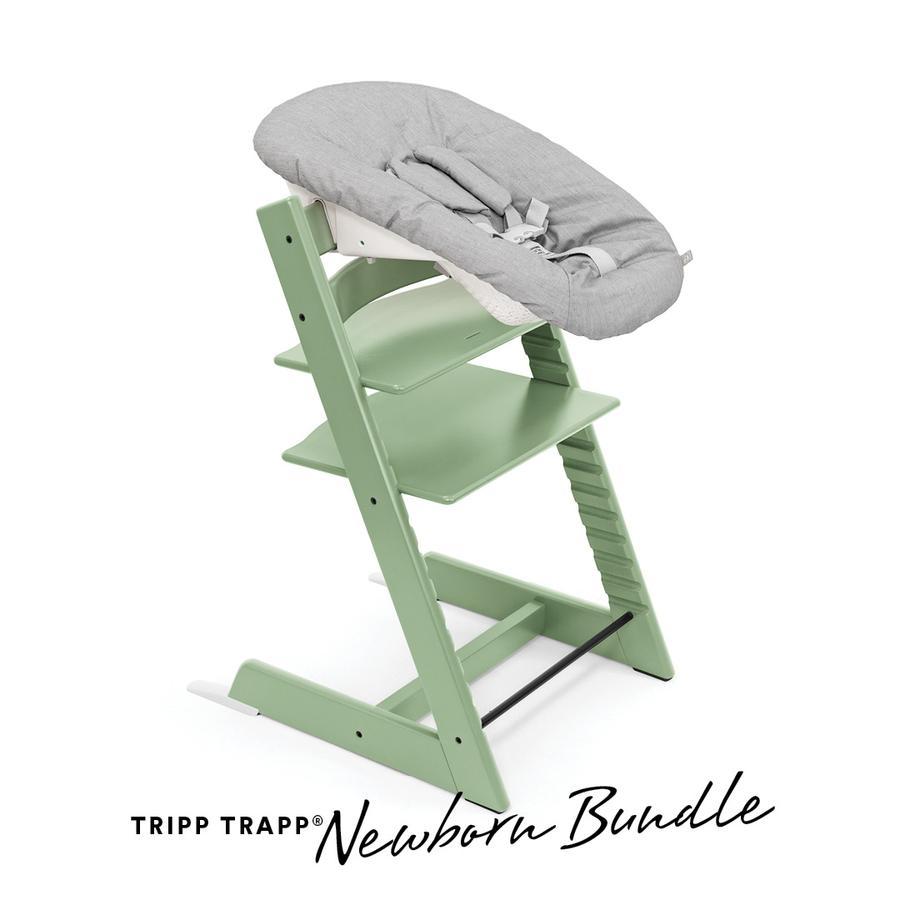 STOKKE® Tripp Trapp® Hochstuhl Buche Moss Green inkl. Newborn Set™  Grey