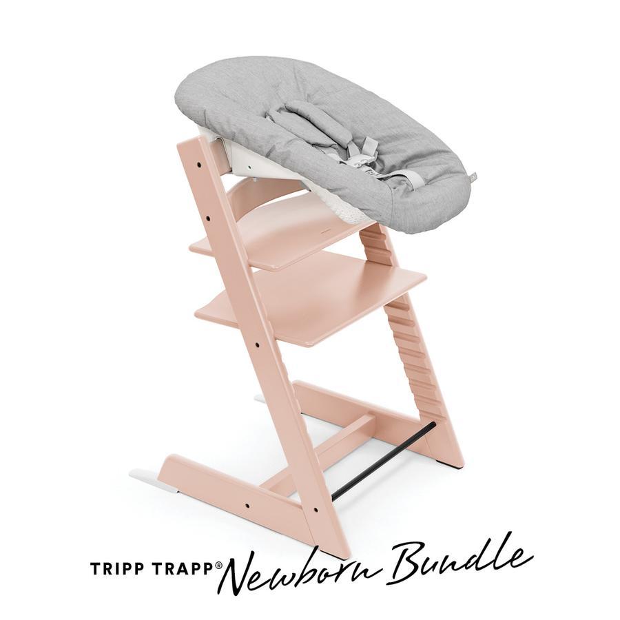 STOKKE® Tripp Trapp® Hochstuhl Buche Serene Pink inkl. Newborn Set™  Grey