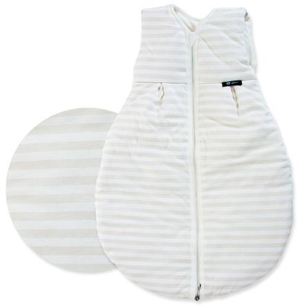 """ALVI Sacco nanna """"Baby Mäxchen"""" - Motivo: righe beige- Misura: 90 cm"""