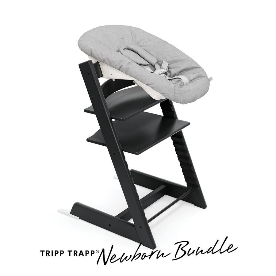 STOKKE® Tripp Trapp® Hochstuhl Oak schwarz inkl. Newborn Set™ Grey