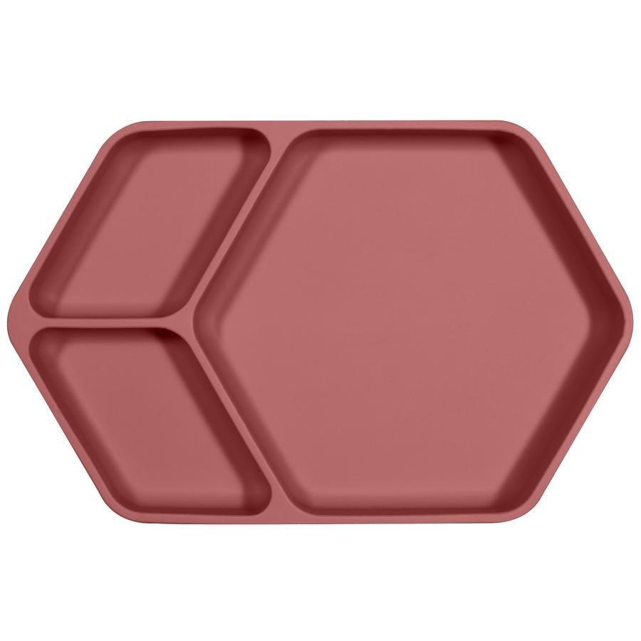 KINDSGUT Silikoneplade, kantet i antik pink