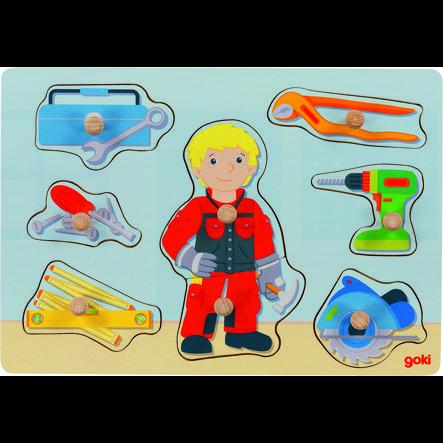goki Steckpuzzle Handwerker