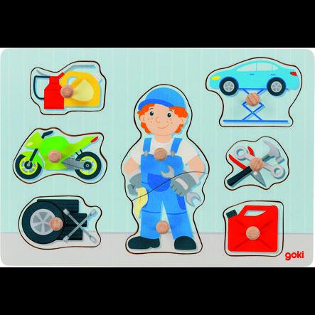 goki Steckpuzzle Automechaniker