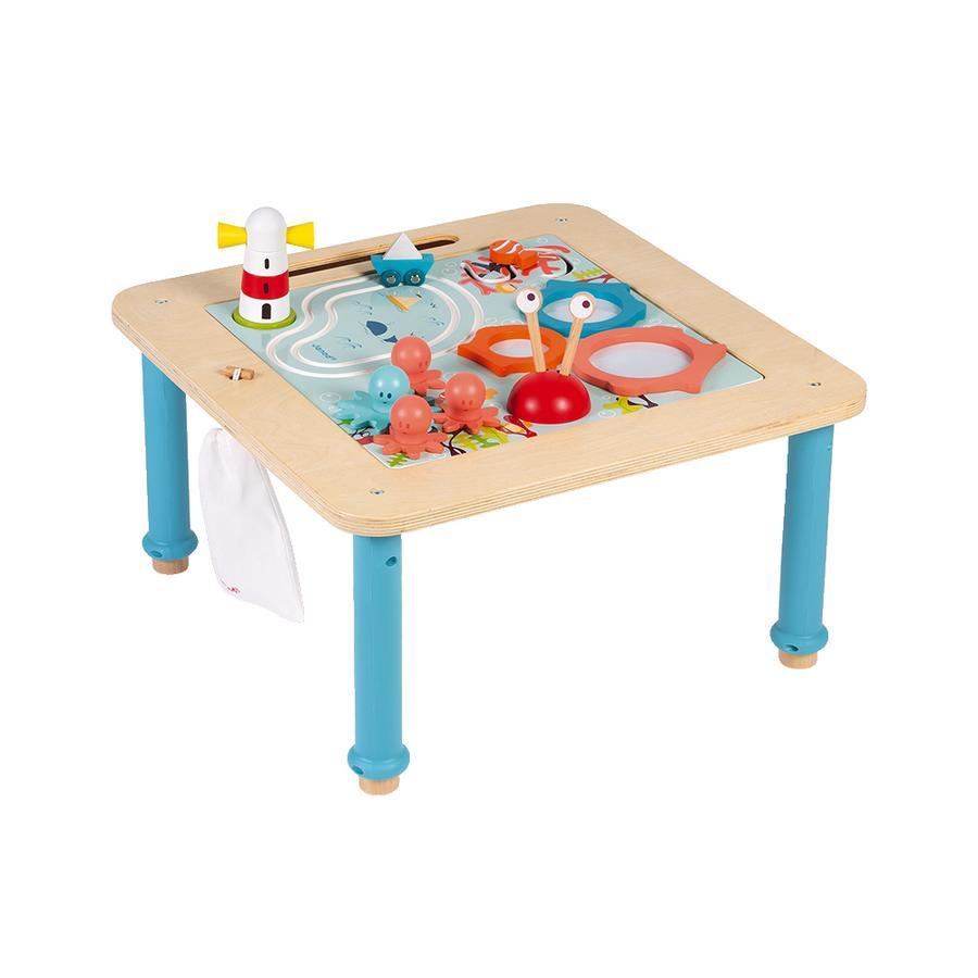 """Janod® Multi-Activity Tisch """"Ozean"""" mit Magnettafel (höhenverstellbar)"""