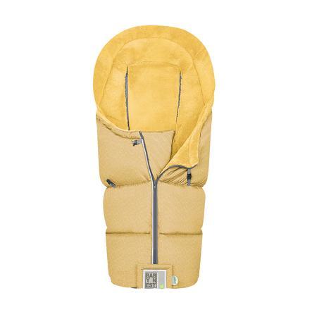 odenwälder Fußsack Lo-Go fashion modern graphic mustard