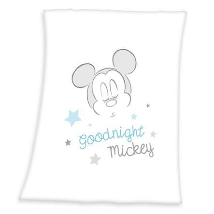 HERDING Microfaserflauschdecke Mickey Mouse 75 x 100 cm