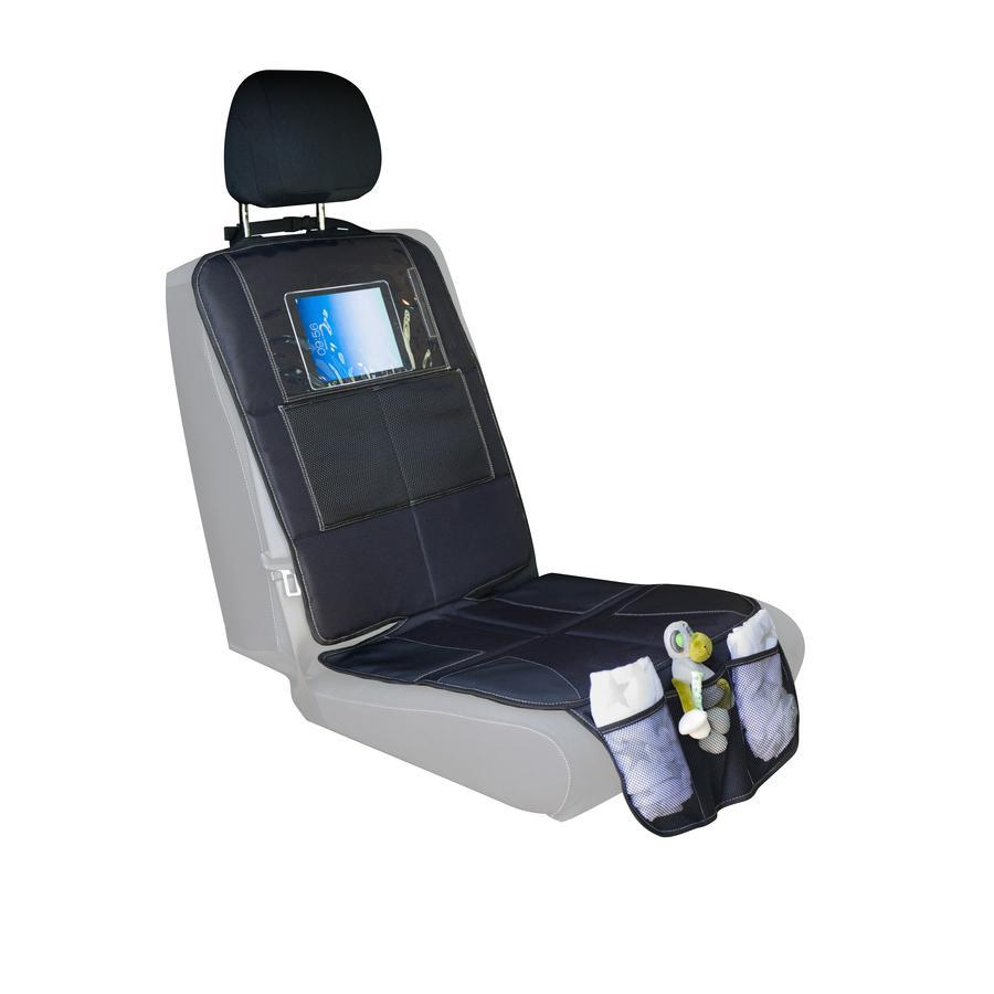 fillikid Autositzunterlage Luxus mit iPad Tasche Schwarz