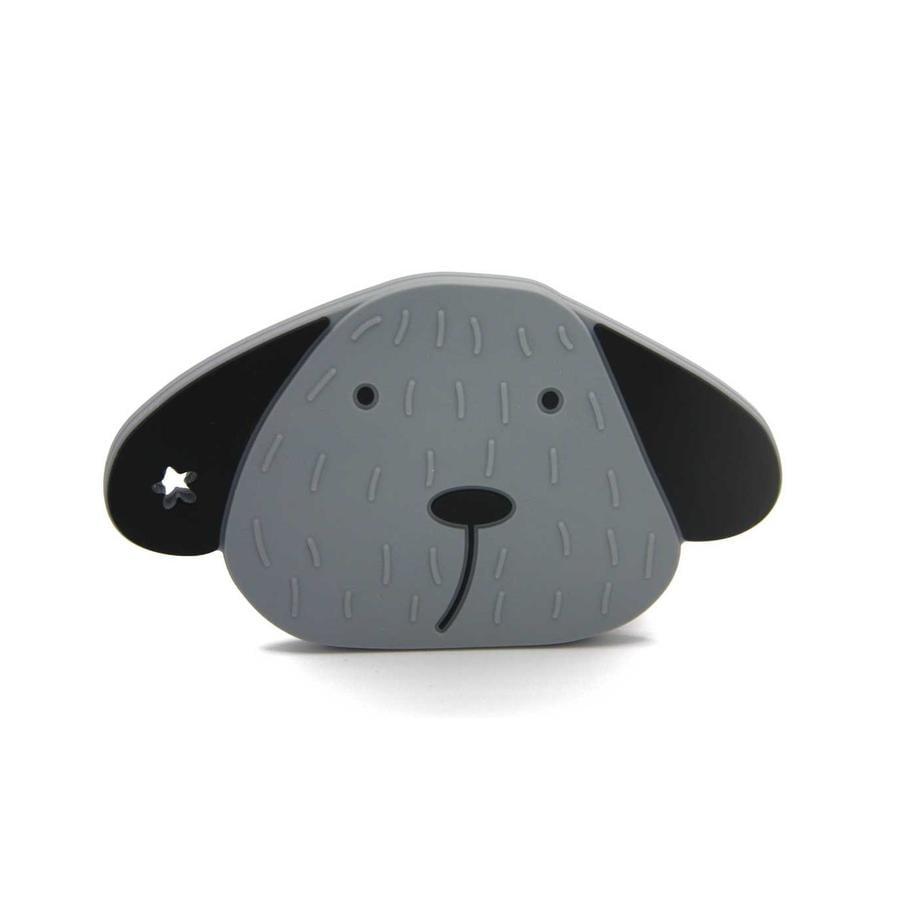 The Cotton Cloud Kousací kroužek Milo the Dog v barvě Storm Grey