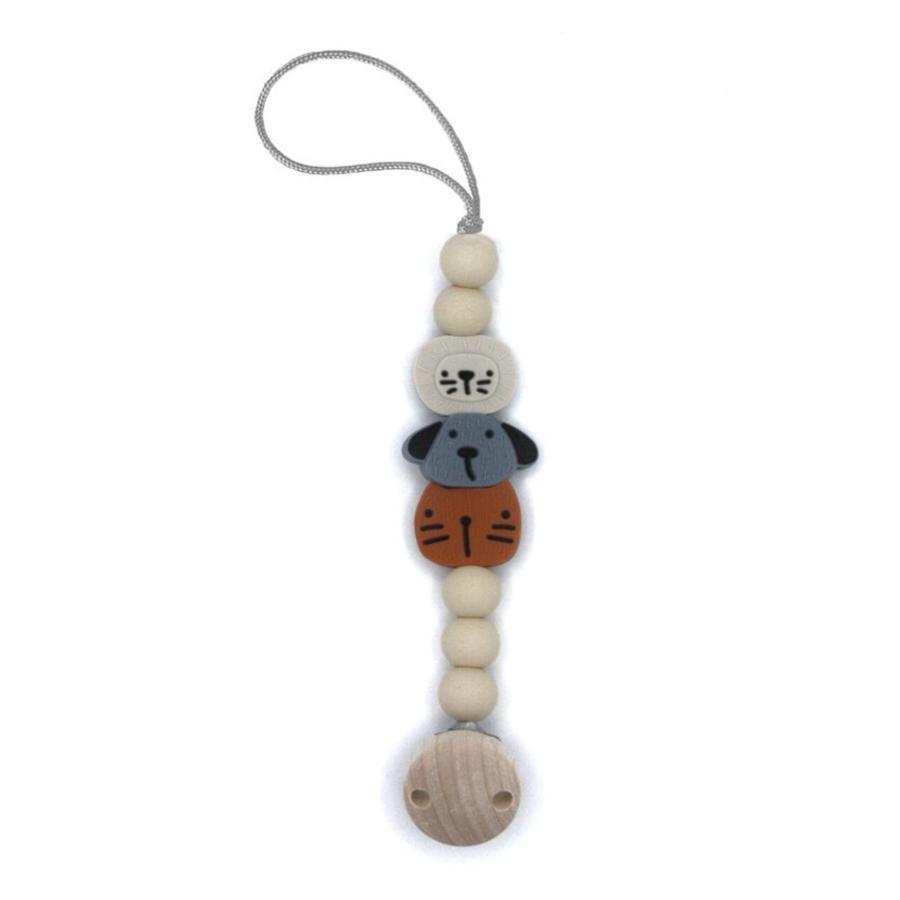the cotton cloud Schnullerkette aus Silikon Animal Mix