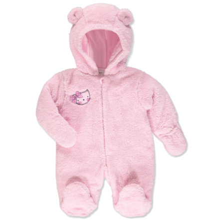 pink or blue Girls Plush Suit with Hood Kitty rose