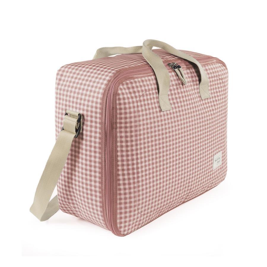 Walking Mum Suitcase I Love Vichy Pink