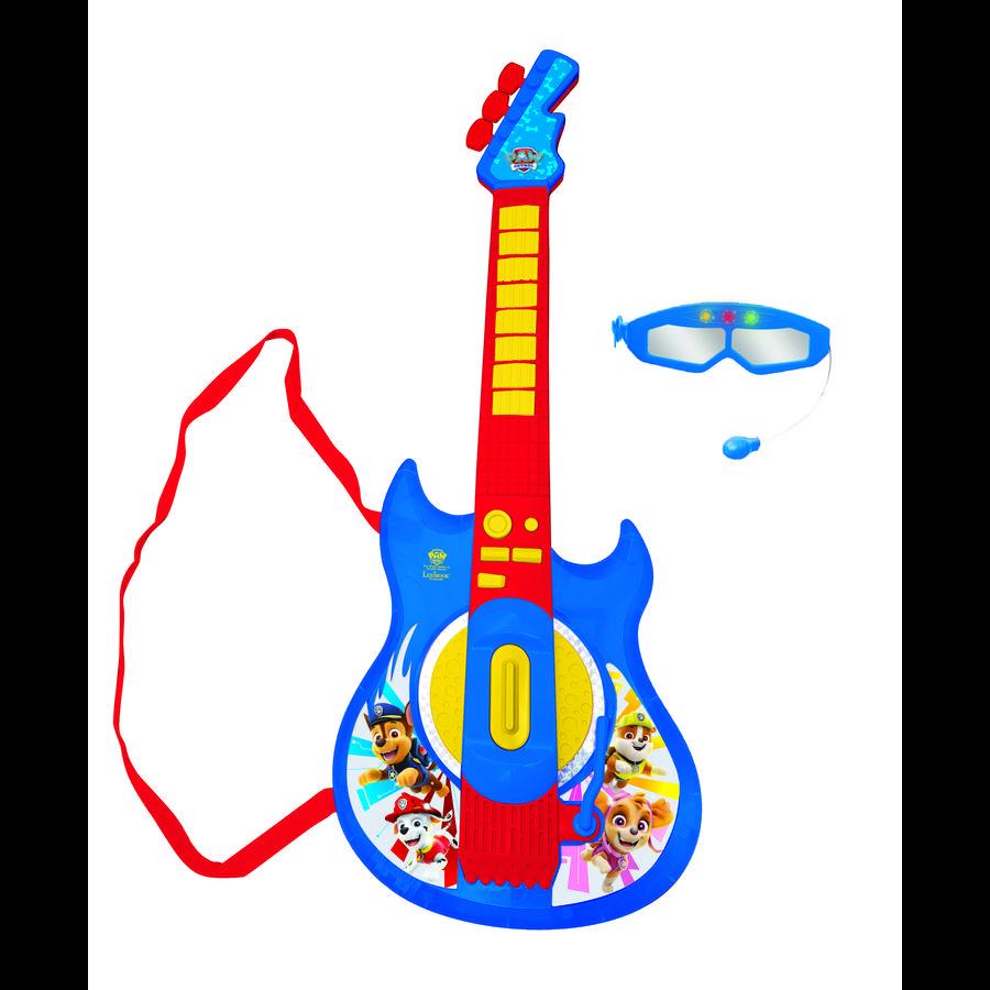 LEXIBOOK Paw Patrol Elektronische Gitarre mit Mikrofon, Brille, Sound und Lichteffekten