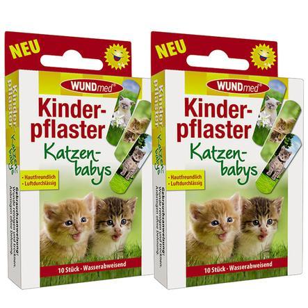 WUNDmed Kinderpflaster Motiv: Katze im Doppelpack