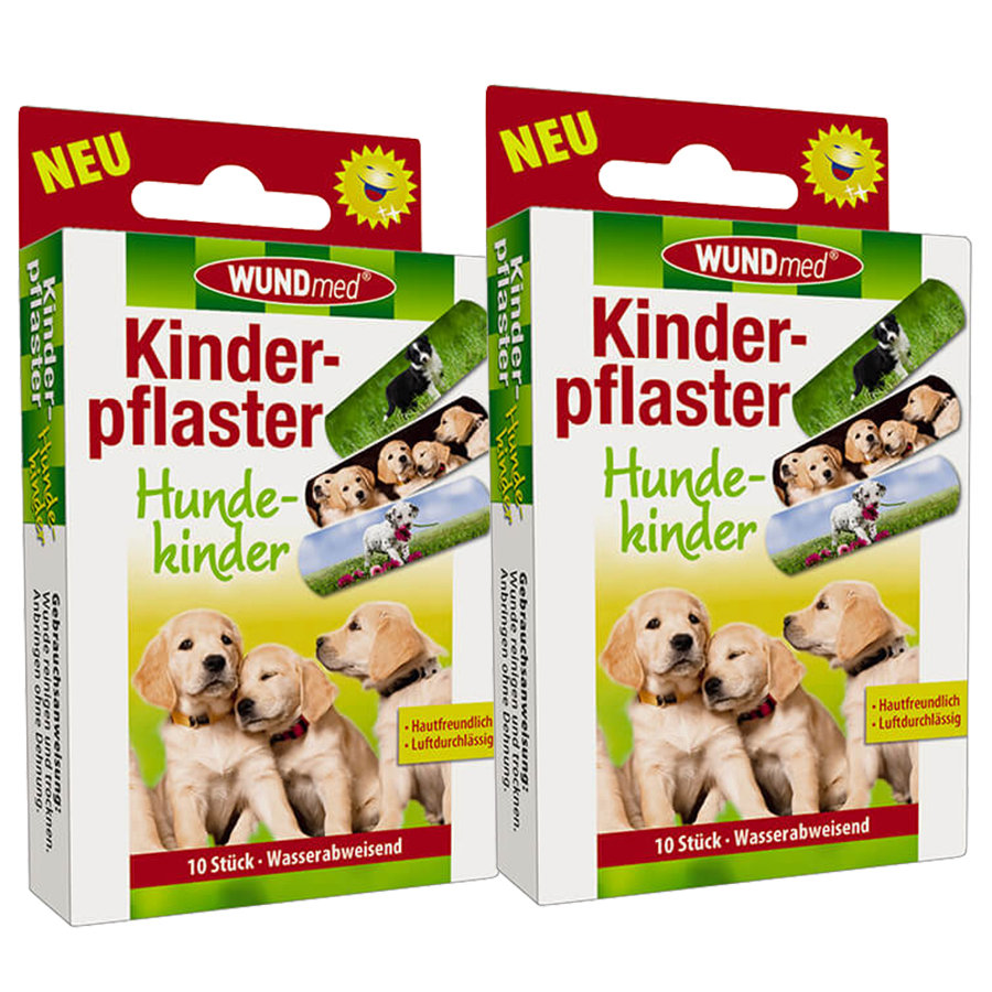 WUNDmed Kinderpflaster Motiv: Hunde im Doppelpack