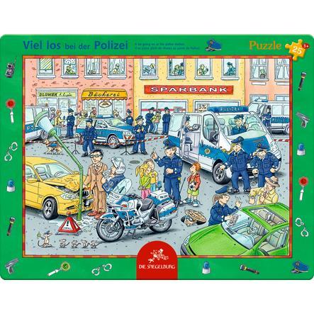SPIEGELBURG COPPENRATH Rahmenpuzzle Viel los bei der Polizei (25 Teile)