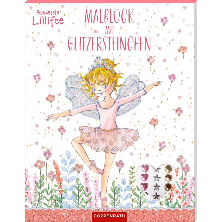 SPIEGELBURG COPPENRATH Prinzessin Lillifee: Malblock mit Glitzersteinchen