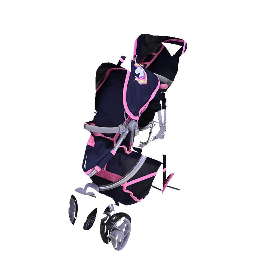 knorr® speelgoed Milo tweeling poppenwagen, Magic Eenhoorn