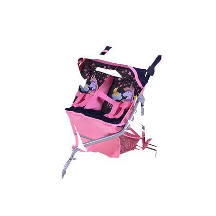knorr® speelgoed Tweeling poppenwagen Duo, Magic Eenhoorn
