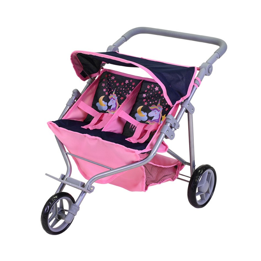 knorr® toys Zwillingspuppenwagen Duo, Magic Unicorn