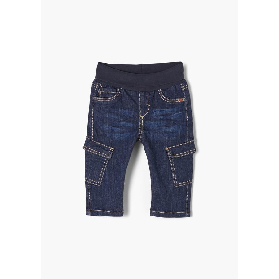 s. Olive r Jeans bleu denim étiré