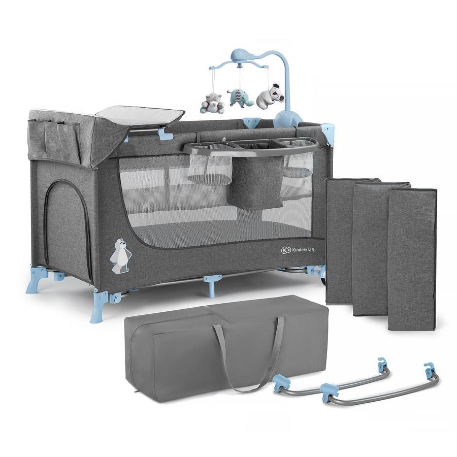 Kinderkraft Reisbed Joy blue inclusief accessoires