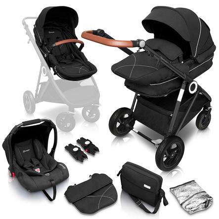 babyGO  Wózek dziecięcy Halime 3w1 Air Black Anthracite