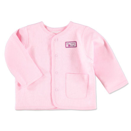 pink or blue Girls Reversible Jacket pink and white stripes