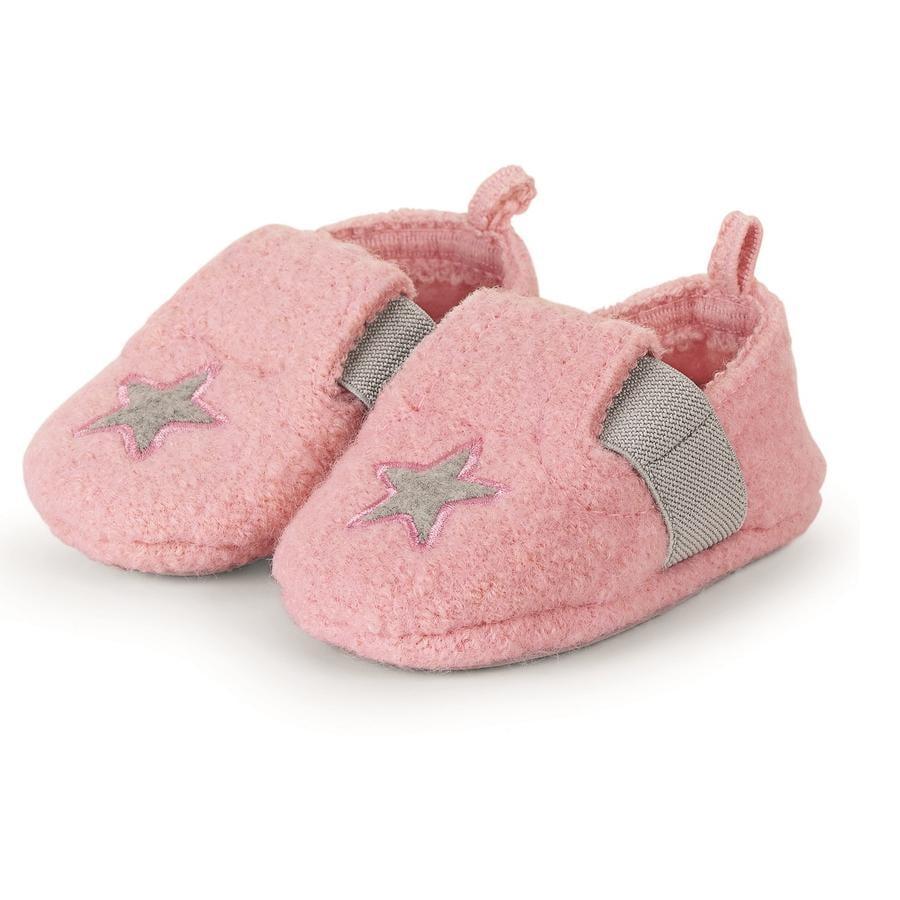 Sterntale Baby-Krabbelschuh rosa