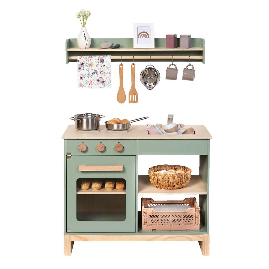 MUSTERKIND® Spielküche- Magnolia - salbei/natur