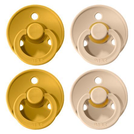 BIBS Schnuller Colour Mustard / Vanilla 6-18 Monate, 4 Stk.