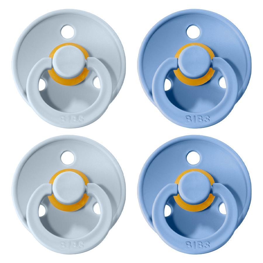 Sucette BIBS Colour Sky Blue / Baby Blue 6-18 mois, 4 pcs.
