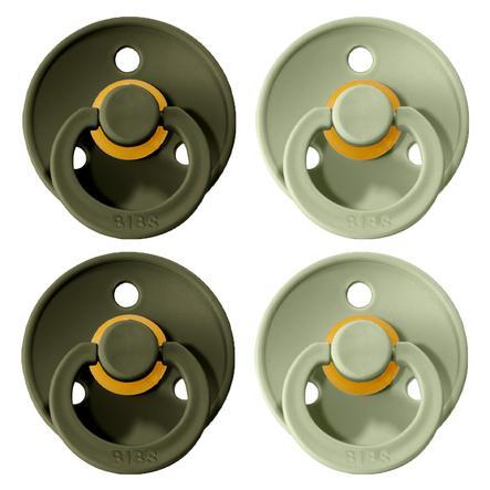 BIBS dummies Colour Sage / Hunter Green 6-18 mesi, 4 pezzi.