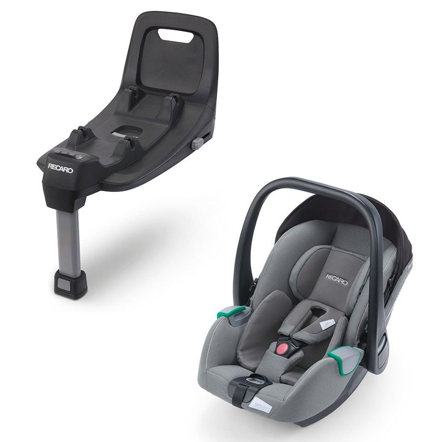 RECARO Babyschale Avan Prime Silent Grey inklusive Base