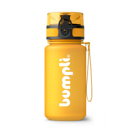 bumpli ® Dricksflaska för barn Soft Touch orange 350 ml från 3 års ålder