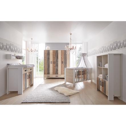 SCHARDT Woody Kit chambre enfant avec armoire 3 portes lit kit de transformation commode  et plateau