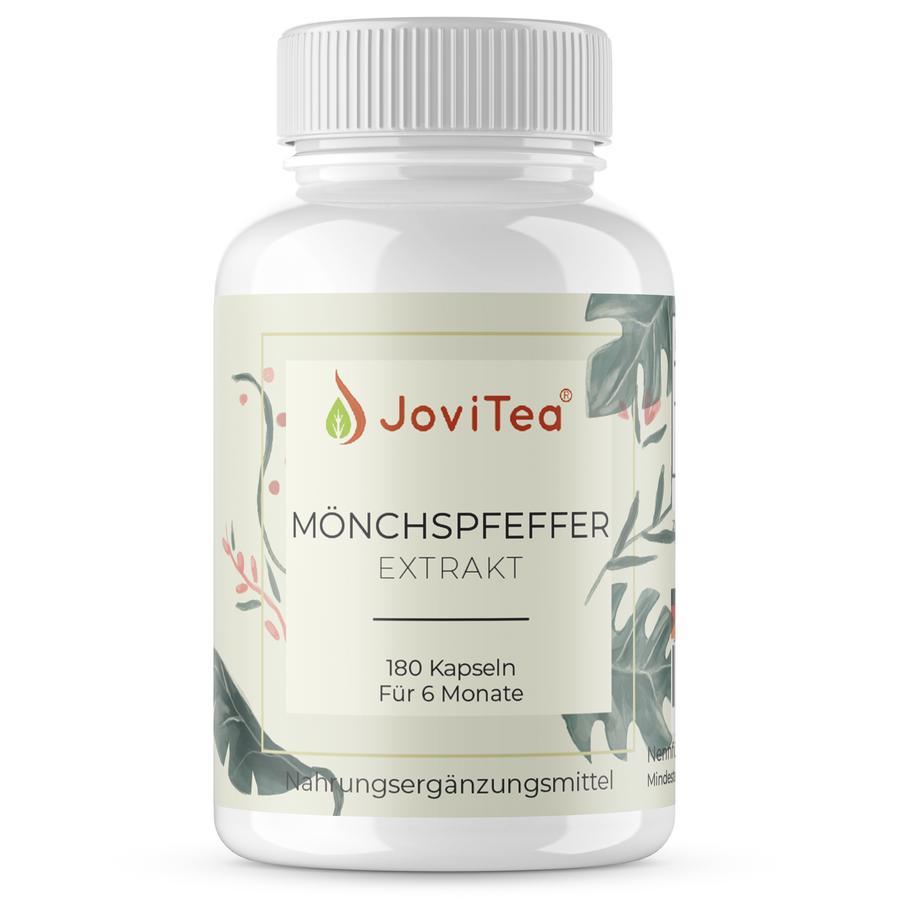 JoviTea Nahrungsergänzungsmittel Möchspfeffer Extrakt 180 Kapseln für 6.  Monate