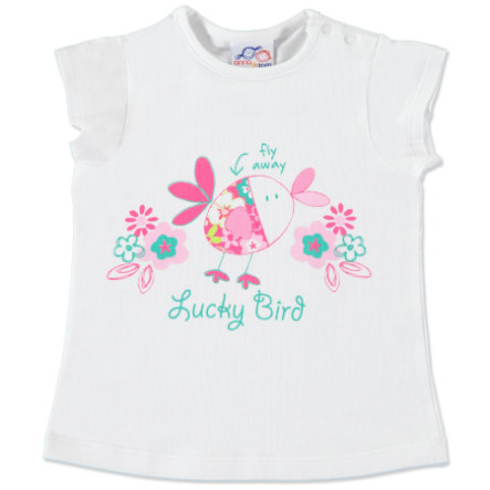 anna & tom - tunika lucky birds vit/pink